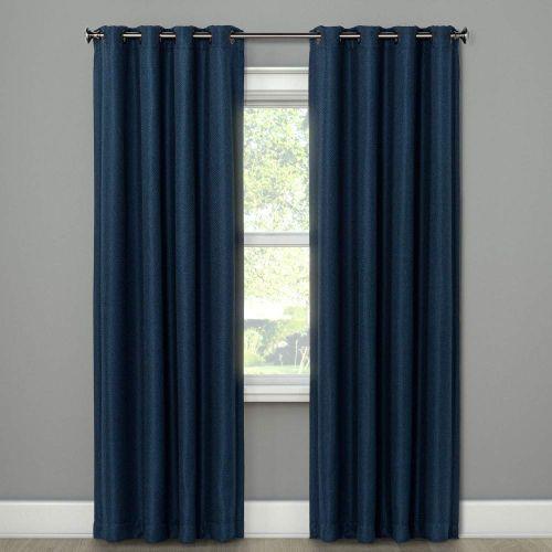 Details about Eclipse -Curtain Panels Indigo (Blue) 52