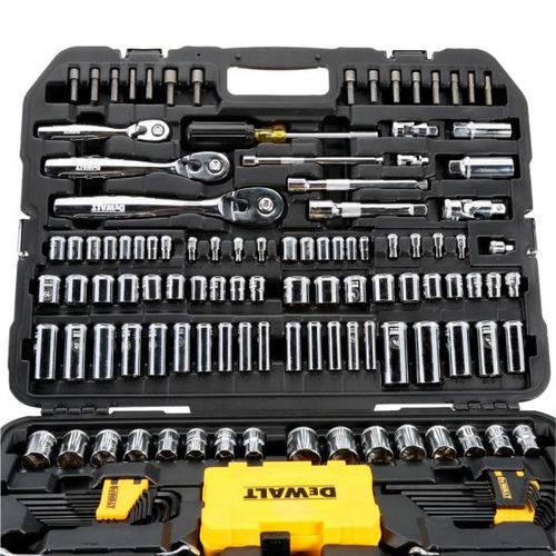 3409fc46ef0 DeWalt DWMT73803 Mechanics Tool Kit Set with Case (168 Piece ...