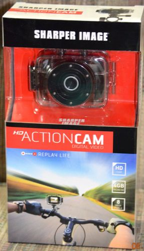 Sharper Image Svc350 Hd Action Cam Digital Video 8 Mp 4x Digital