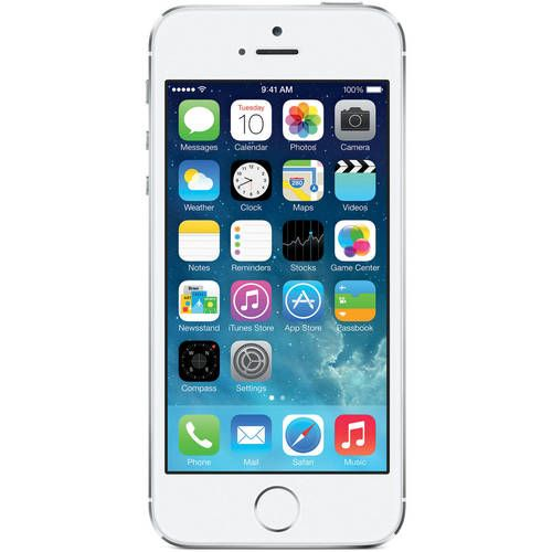 dfb0b5a399dec0 Details about Apple iPhone 5S 16GB Silver LTE Cellular Straight Talk/TracFone  MN6T2LL/A