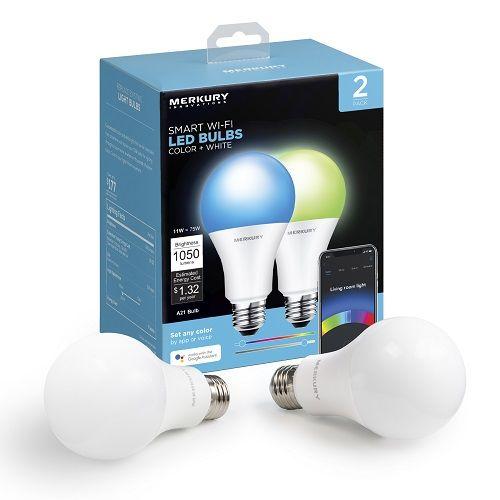 Merkury Innovations MI-BW210-999W A21 Smart Light Bulb
