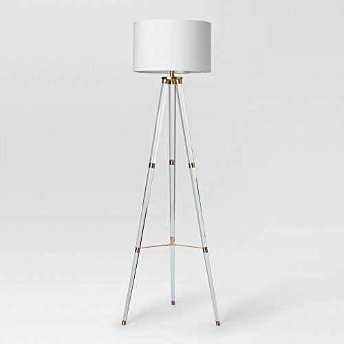 Project 62 Delavan Tripod Floor Lamp Clear Metal Acrylic 82803376537 Ebay